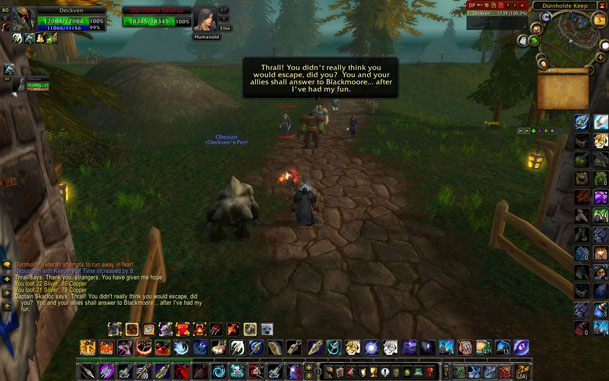 Людей без опыта в MMORPG-играх такой интерфейс, скорее, испугает (World of Warcraft)
