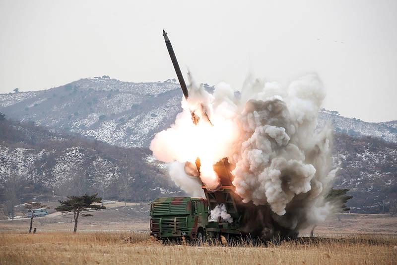 Испытания нового ракетного комплекса,Северная Корея, 2016 год