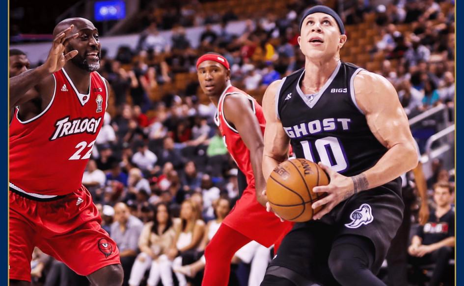 Баскетбол на стриминговомсервисеCBS. Играют Крис Андерсен, Майк Бибби и Гилберт Аренас