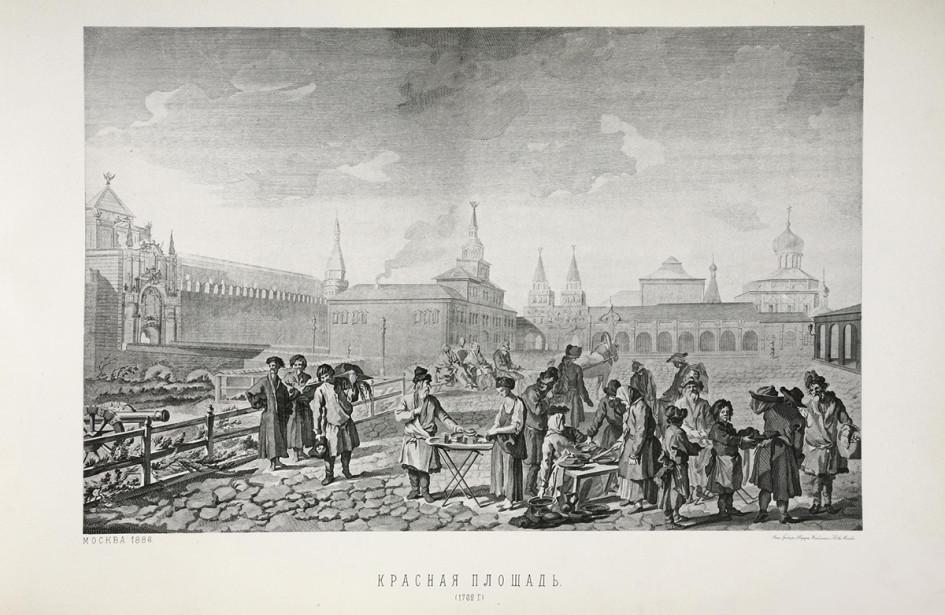 Красная площадь. Гравюра. 1762 год