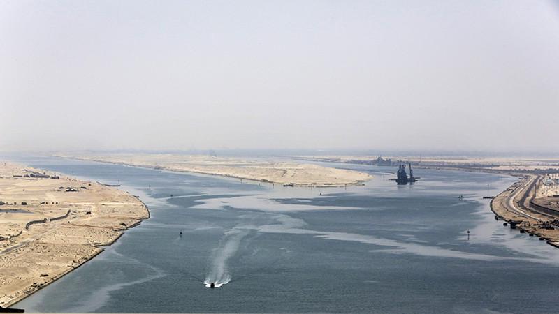 Вид на новую ветку Суэцкого канала