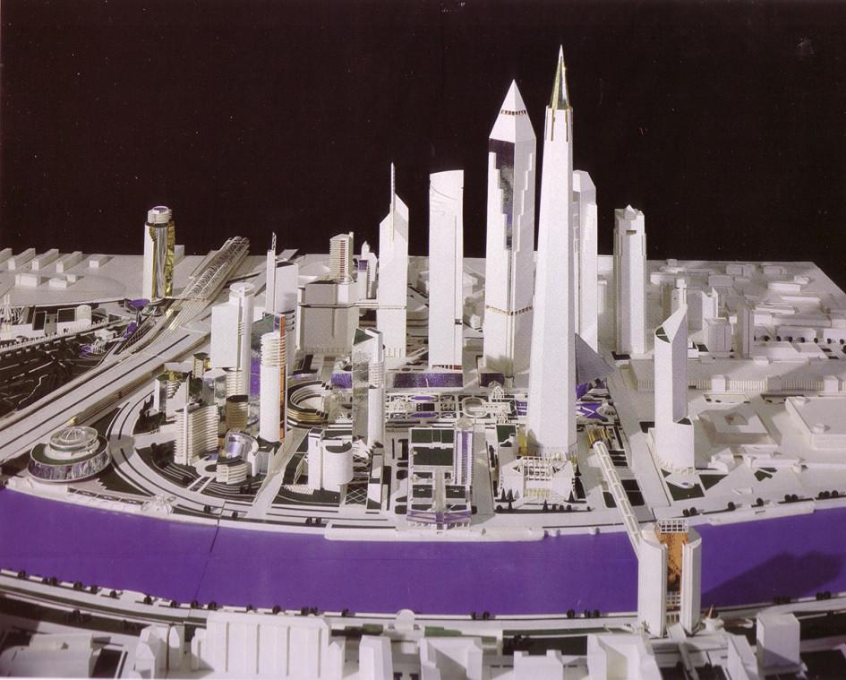 Первая планировочная модель Сити, разработанная Борисом Тхором