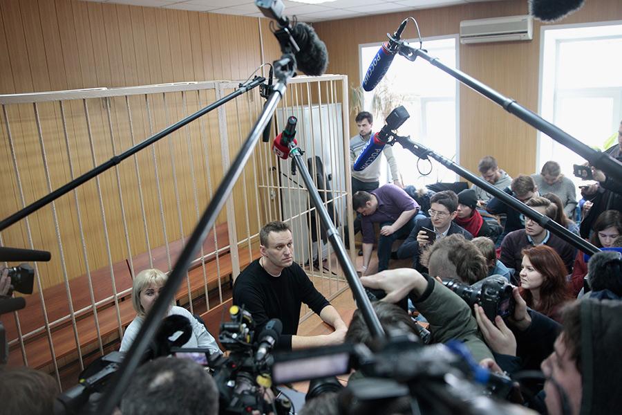 Алексей Навальный вовремя заседания суда