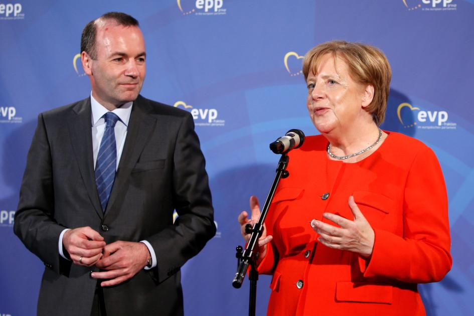 Ангела Меркель и Манфред Вебер