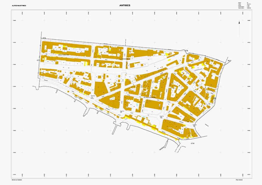 План комунны Антиб,где, поинформации французскихСМИ, расположена вилла Сулеймана Керимова
