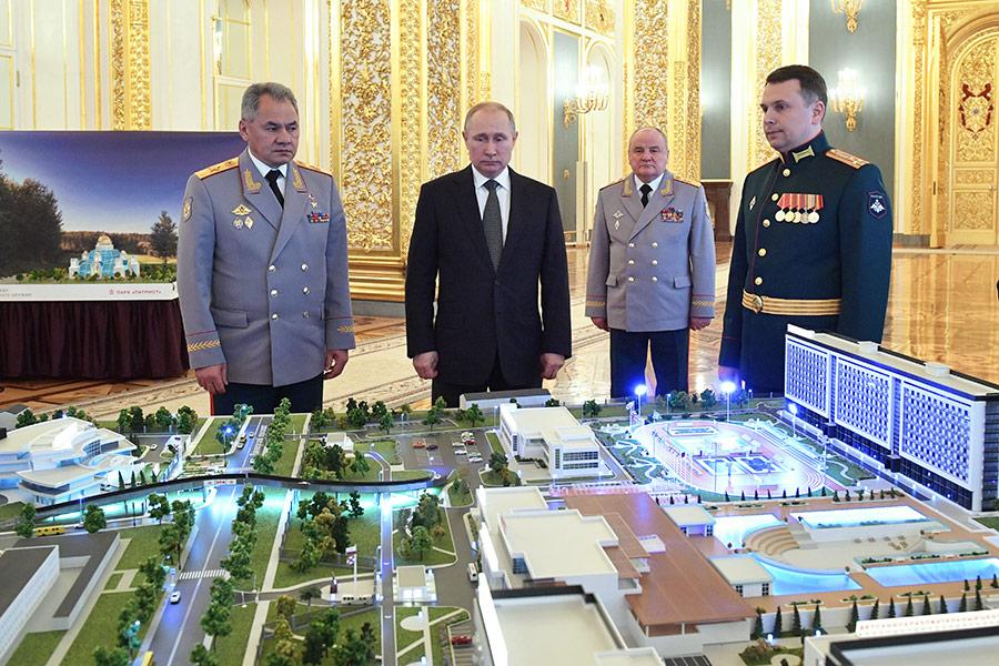 Презентация в Кремле военного инновационного технополиса«Эра». 23 февраля 2018 года