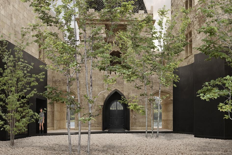 Проект реновации средневекового замка во Франции