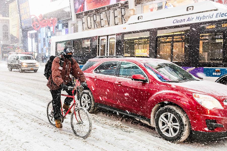 Снегопад вНью-Йорке