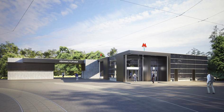 Проект станции «Авиамоторная» БКЛ