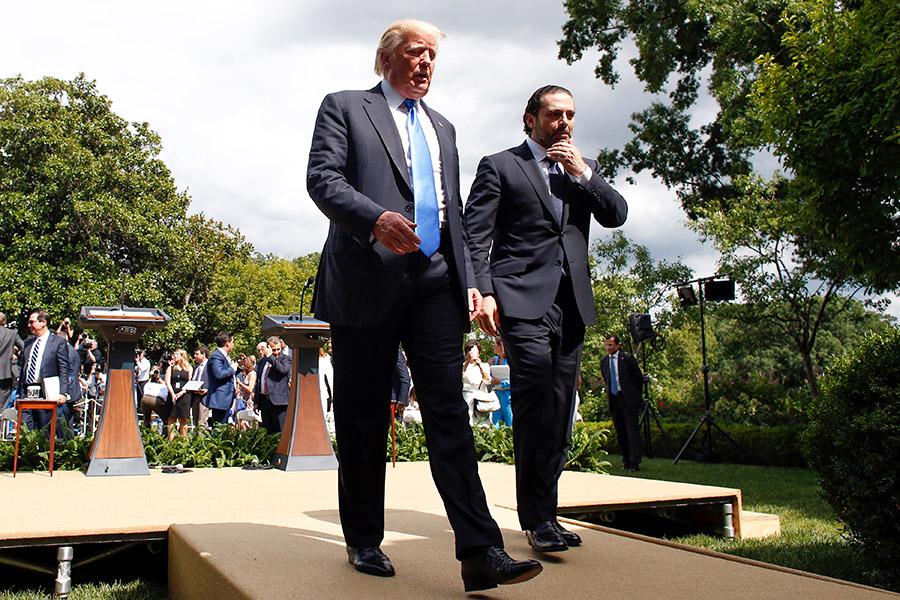 Дональд Трамп и Саад Харир (слева направо)
