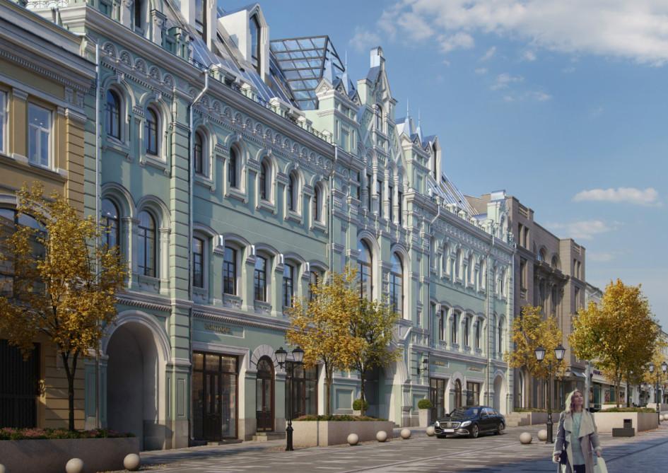 Проектный вид на главный фасад Kuznetsky Most 12 by Lalique