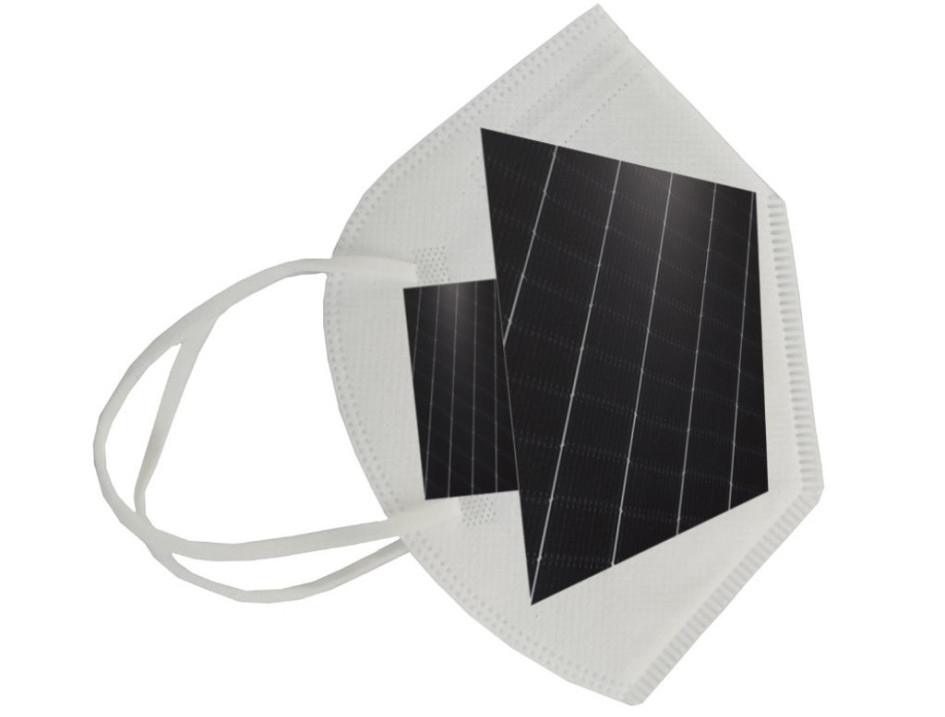 Схематично респиратор с солнечной батареей выглядит так