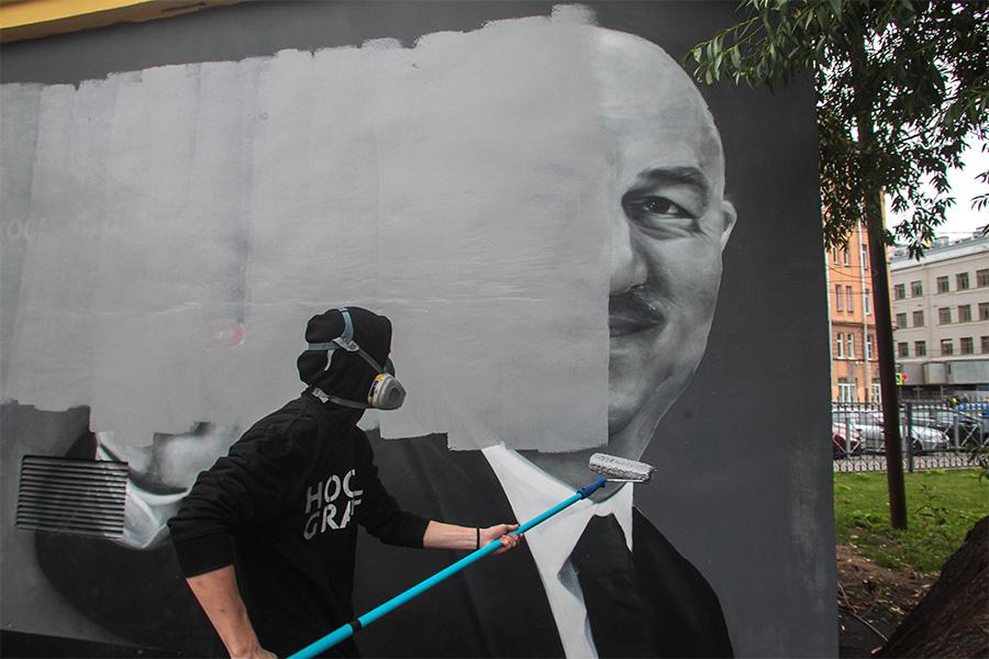 Граффити с изображением Черчесова