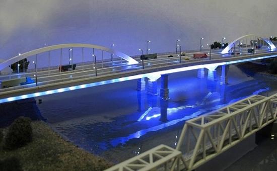 Модернизированный Яблоновский мост. Макет.