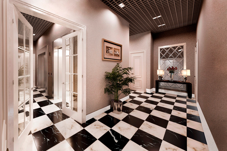 Дизайн-решение МОПов жилого дома «Дуэт»