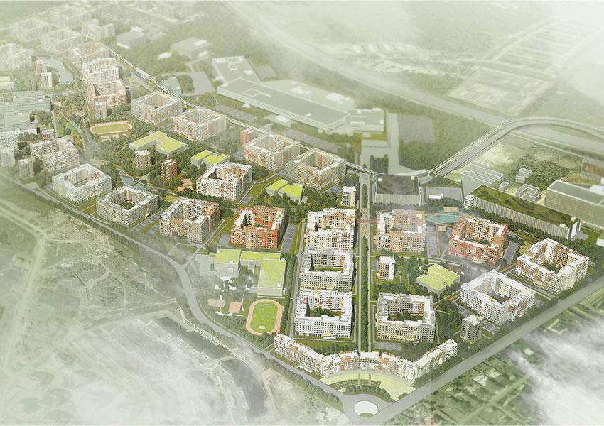 Проект застройки жилого микрорайона «Новорижские кварталы»