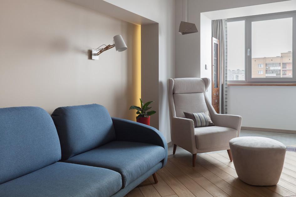 Диван в столовой разработал испанский дизайнер Серхио Муньос