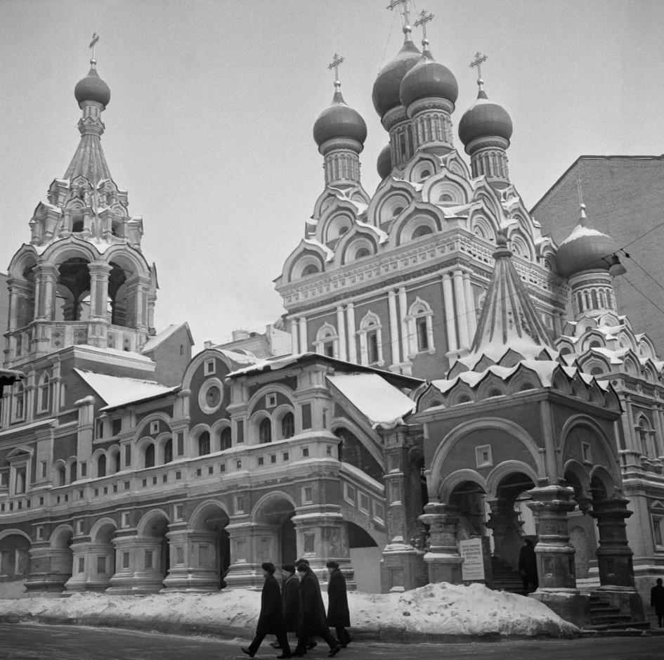 Церковь Святой Живоначальной Троицы в Никитниках. Москва, 1963 год