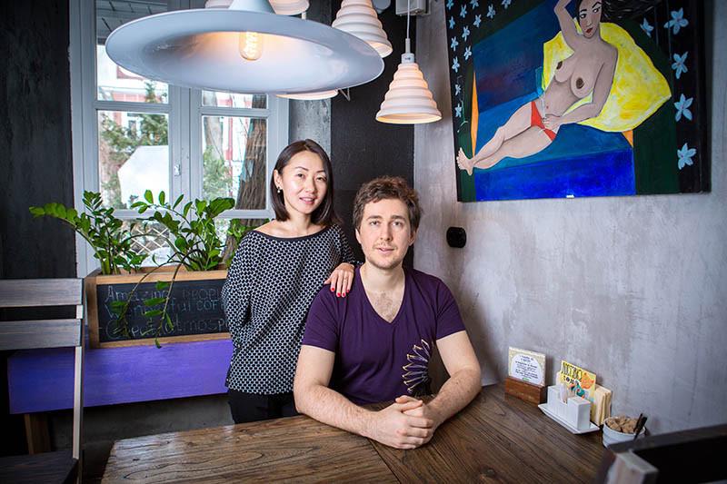 Владельцы ресторана «Рецептор» Надежда Пак и Александр Брайловский