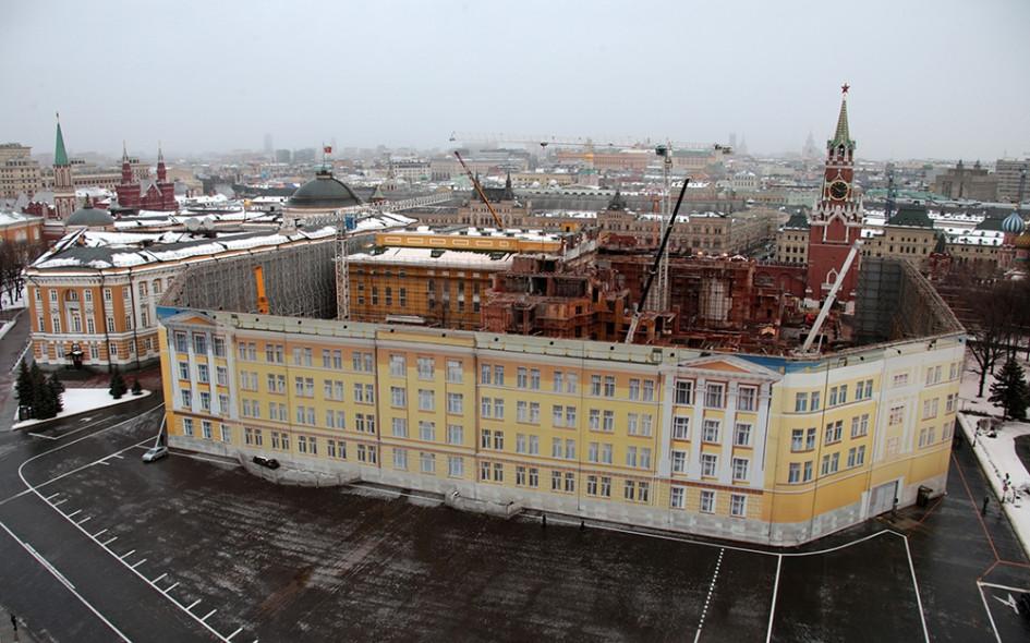Снос 14-го корпуса Кремля — административного корпуса, расположенного между Спасскими воротами и Сенатским дворцом Московского Кремля. 2 февраля 2016 года