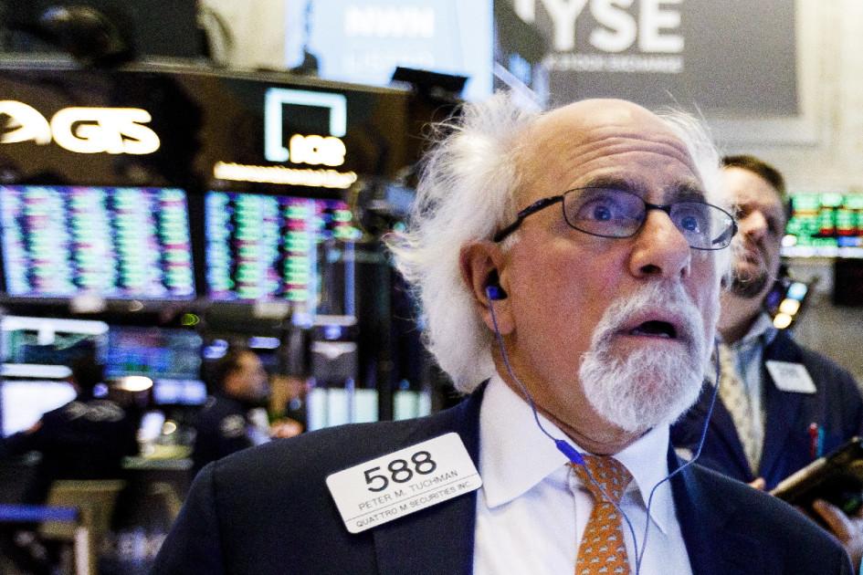 Питер Такмен на фондовой бирже в Нью-Йорке