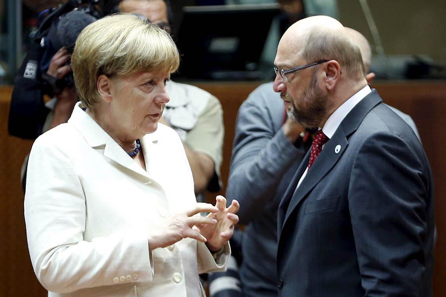 Ангела Меркель иМартин Шульц