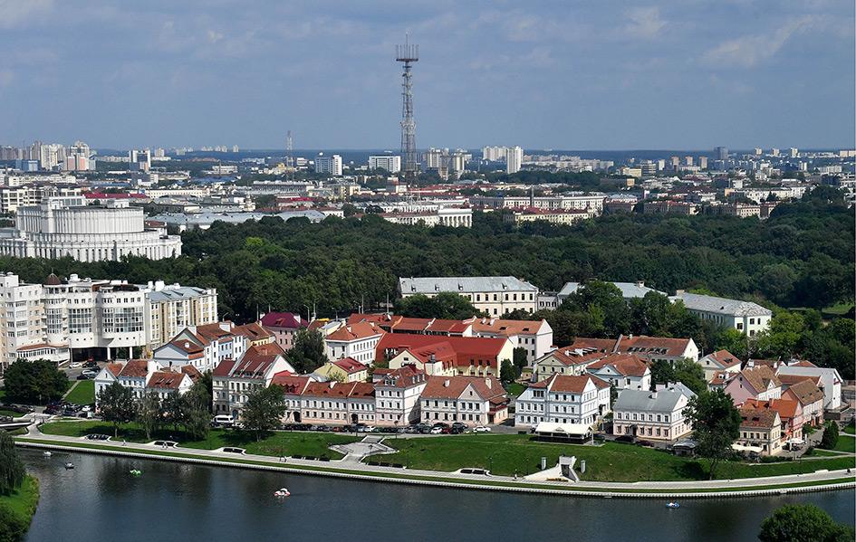 Минск. Вид на Троицкое предместье