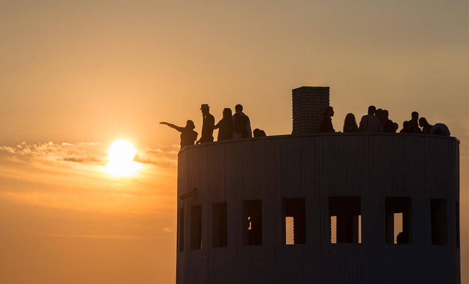 Посетители на объекте «Ротонда»