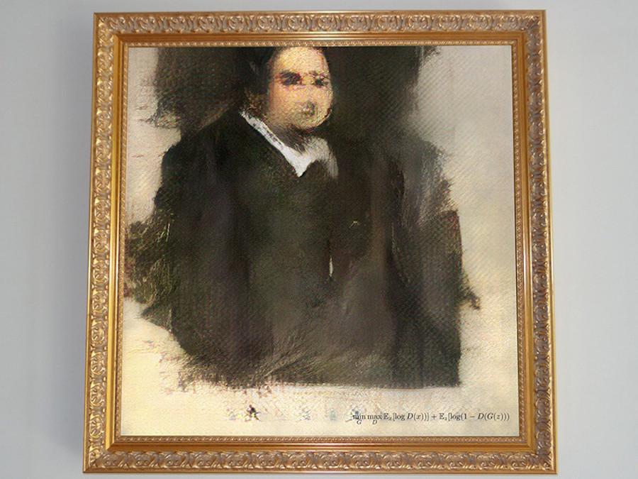 «Портрет Эдмонда Бедами», созданный нейросетью, был продан на аукционе Christie's за $432 тыс.
