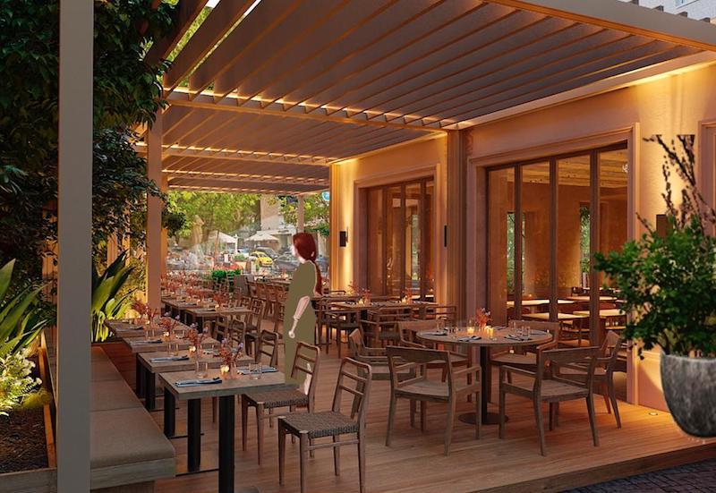 Летняя веранда ресторана «№13» на Патриарших прудах