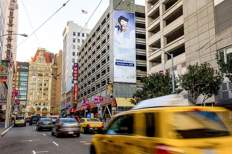 Билборд GitHub в Сан-Франциско