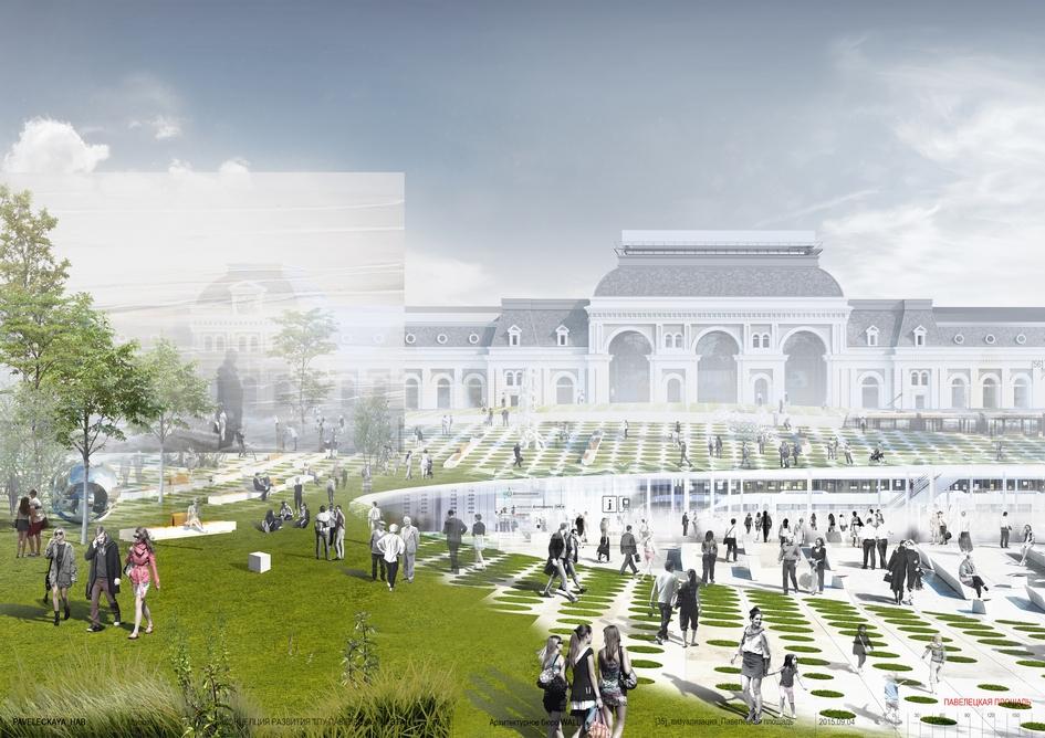 Из портфолио WALL: проект реконструкции площади Павелецкого вокзала