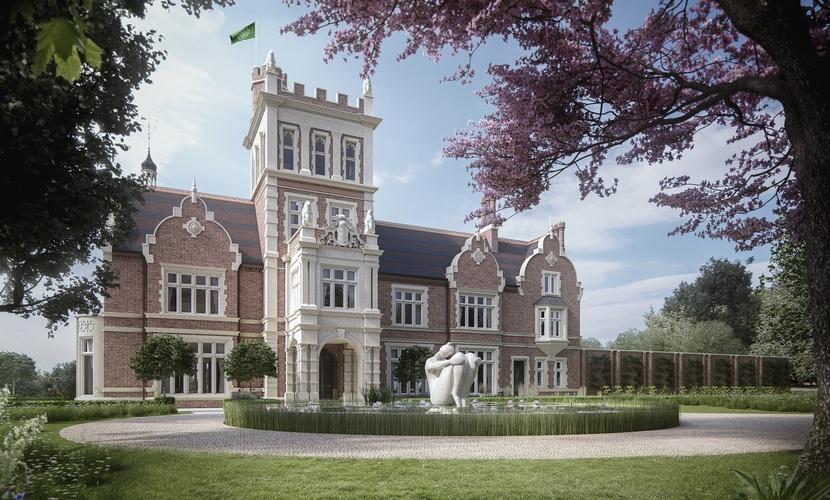 Визуализация Athlone House после завершения реконструкции