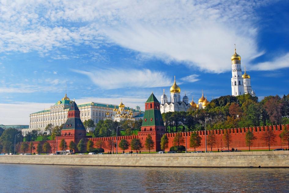 Современный вид на Московский Кремль