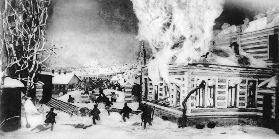 Тушение пожара вдореволюционной Москве