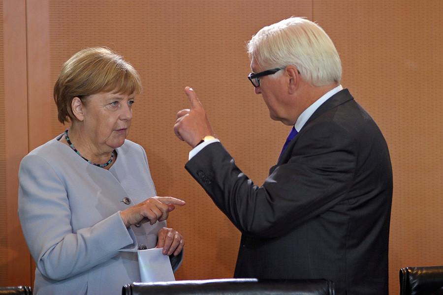 Ангела Меркель иФранк-Вальтер Штайнмайер