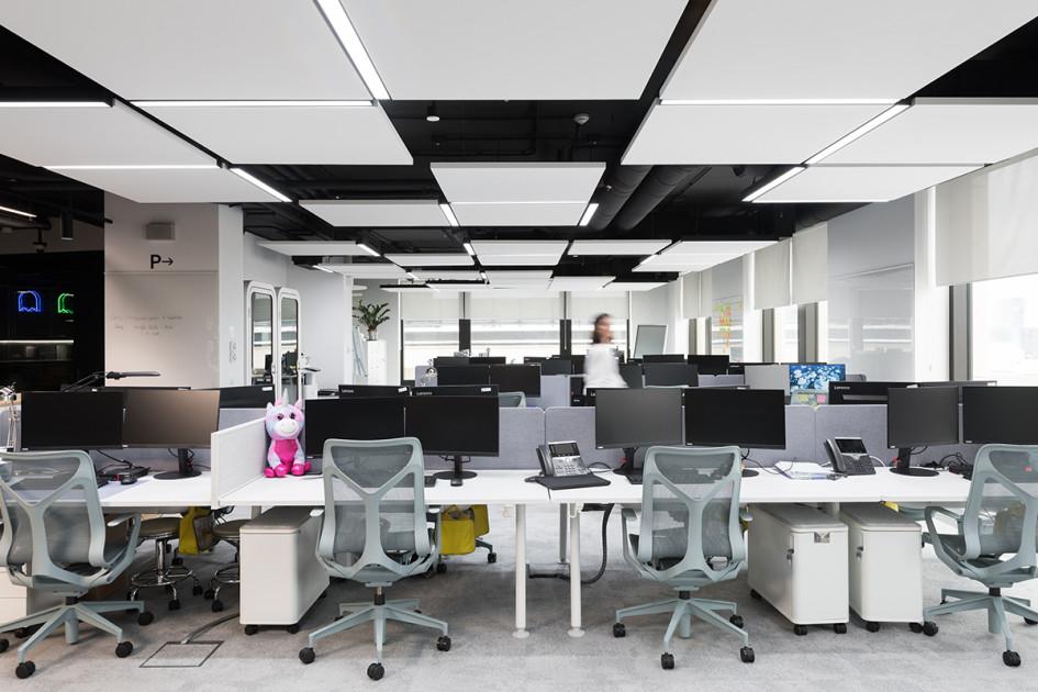 Офисное пространство выполнено в формате open space