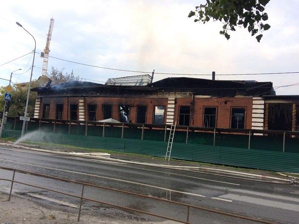 Все, что осталось после пожараот дома купца Жернакова