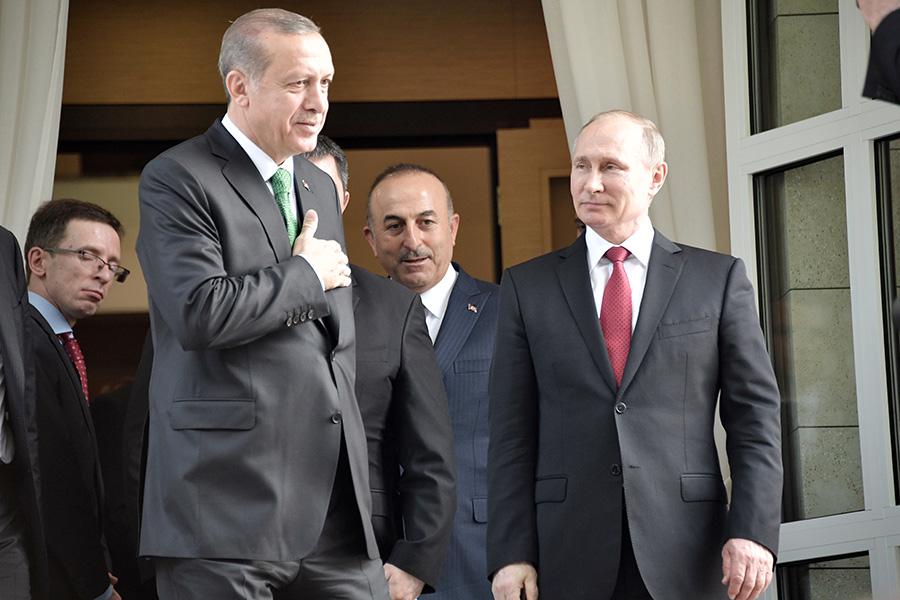 Реджеп Тайип Эрдоган иВладимир Путин. Сочи. 3 мая 2017 года