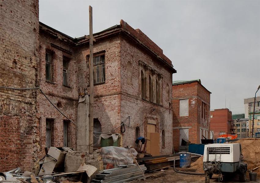 Корпуса бывшей ткацкой фабрики «Красная Роза»...
