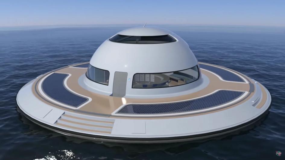 Автор проекта Пьерпаоло Лаззарини уверен: его плавучая вилла сможет нетолькоперемещаться поводе, нои летать