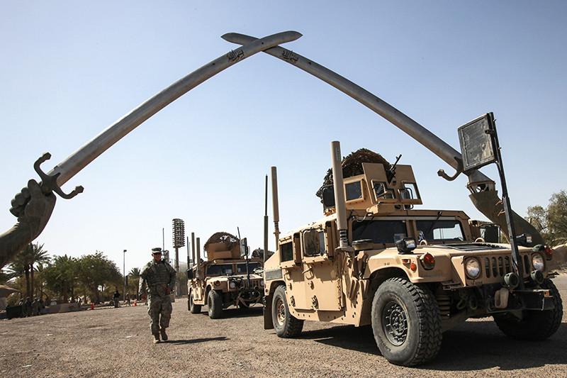 Военнослужащий армии США вБагдаде