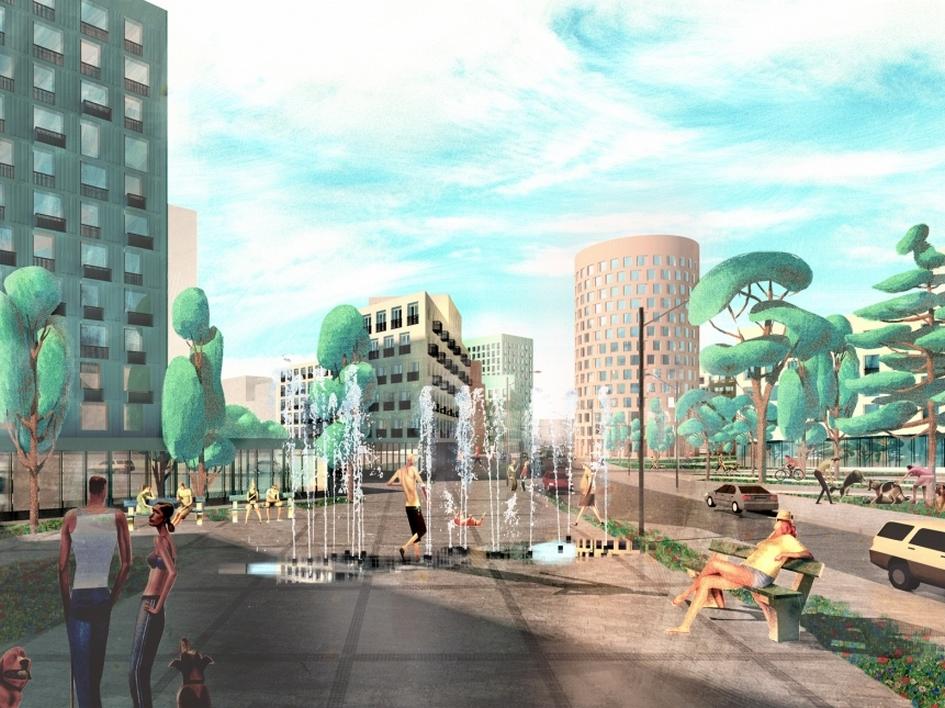 Из портфолио АБ «Остоженка»: конкурсный проект реновации кварталов на проспекте Вернадского.2017 год