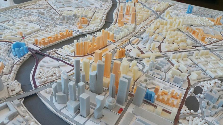 Макет перспективной застройки «Большого Сити»