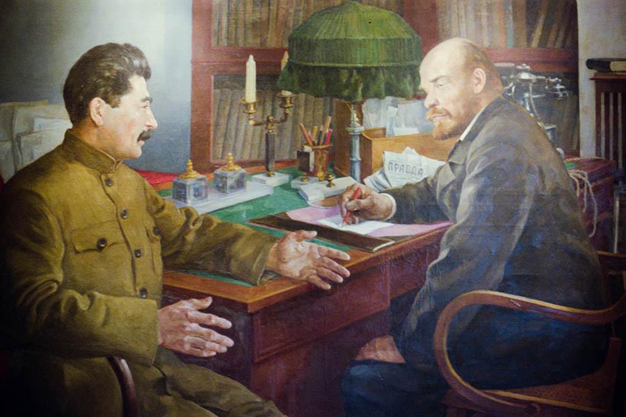 Картина Н.Шестопалова «Ленин и Сталин».1938 год