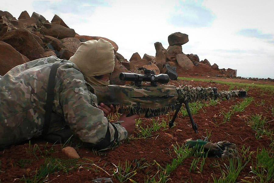 Боец террористической группировки в провинции Идлиб. Январь 2018 года