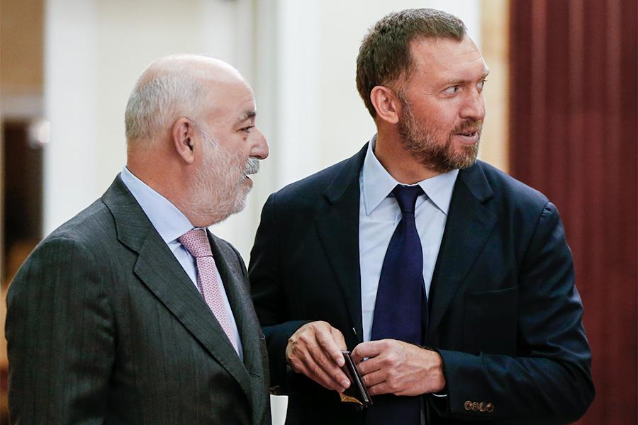 Виктор Вексельберг и Олег Дерипаска (слева направо)