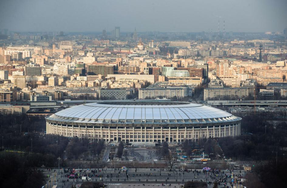 Вид наспортивный комплекс «Лужники»