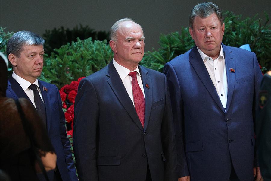 Геннадий Зюганов на церемонии прощания с Иосифом Кобзоном