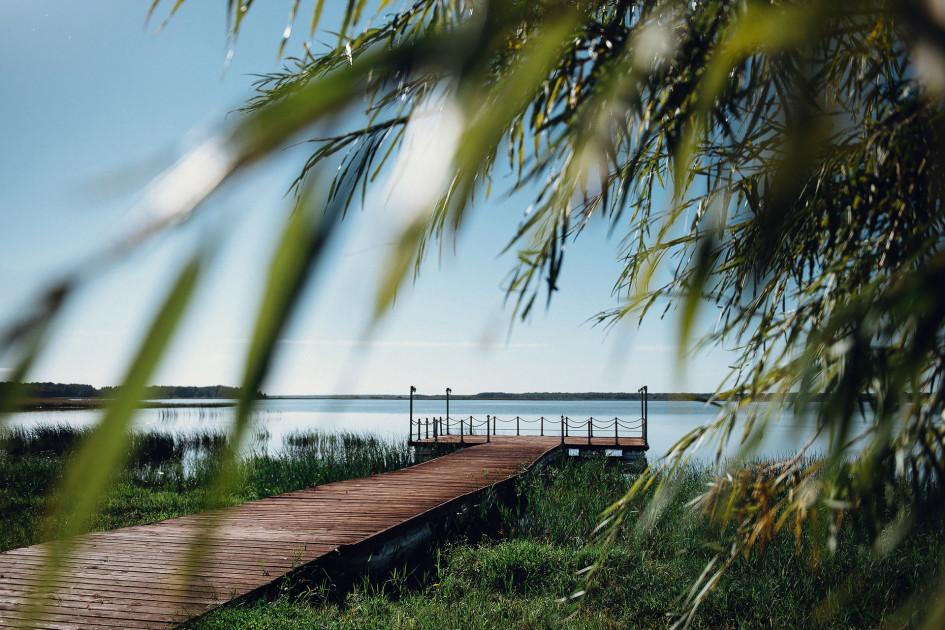 Пирс и Вазузское водохранилище